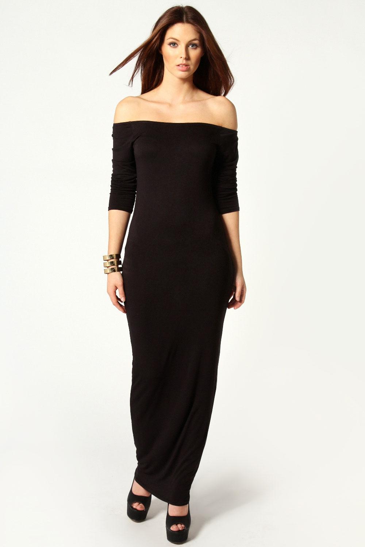 Boohoo Allie Off The Shoulder Long Sleeve Maxi Dress | EBay