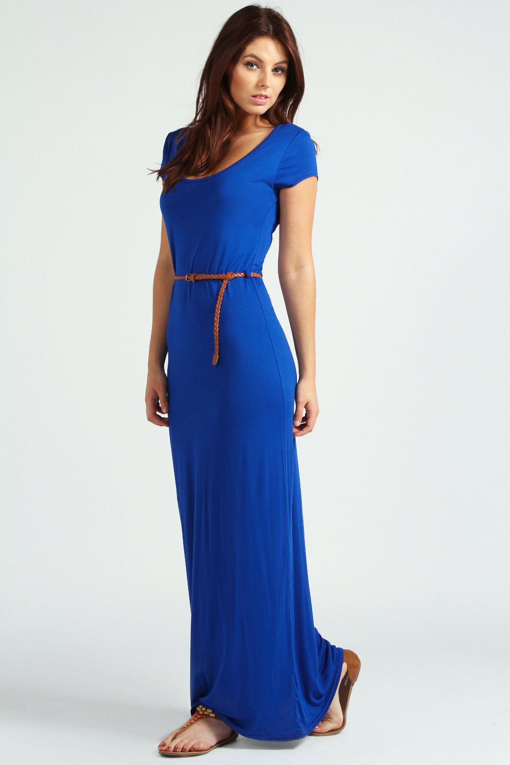 Galerry casual maxi dress with cap sleeves