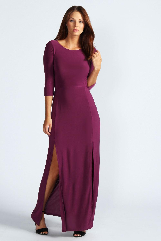 long sleeve purple dress - Gowns and Dress Ideas