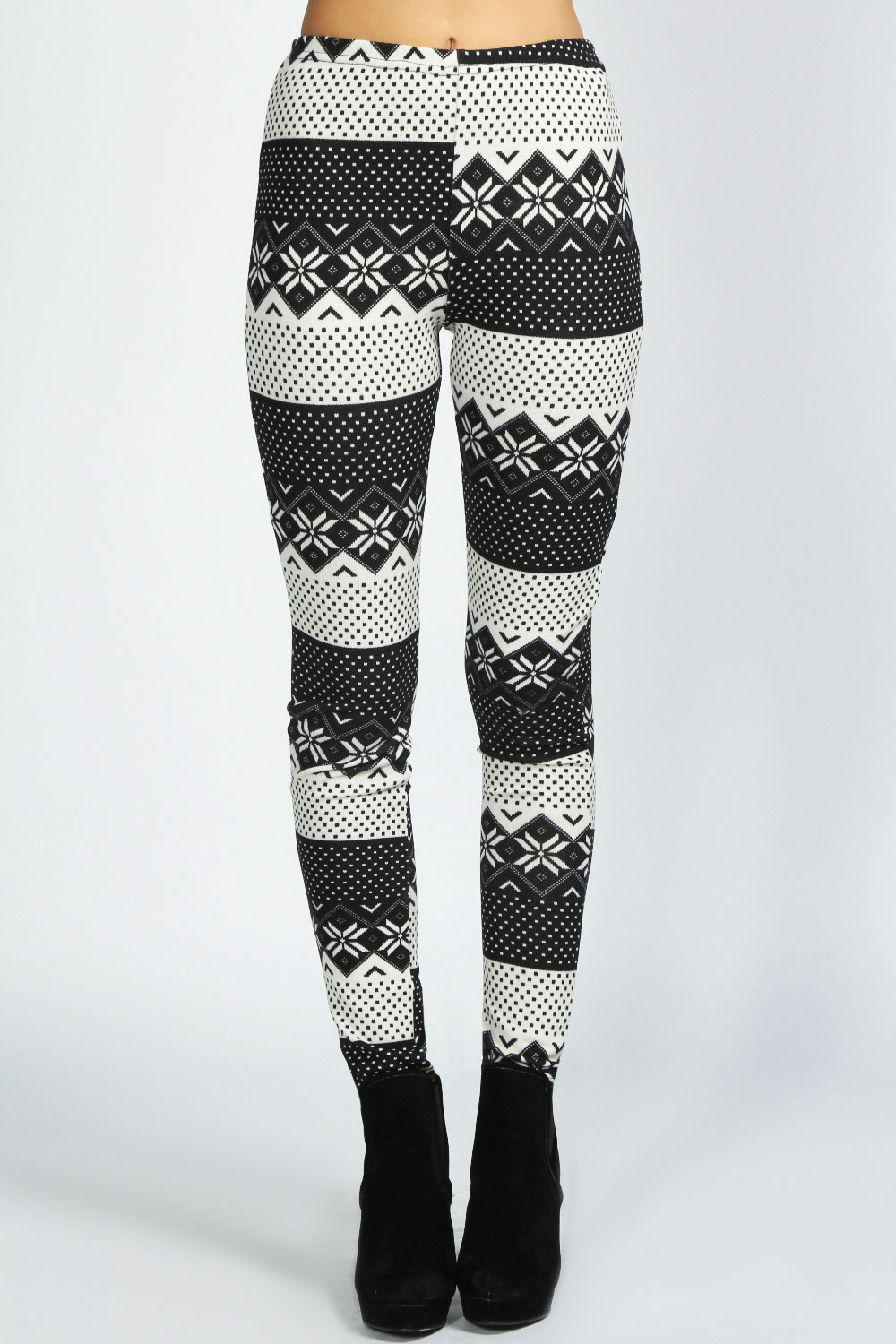Boohoo-Roxy-Stricken-Fairisle-Drucken-Leggings