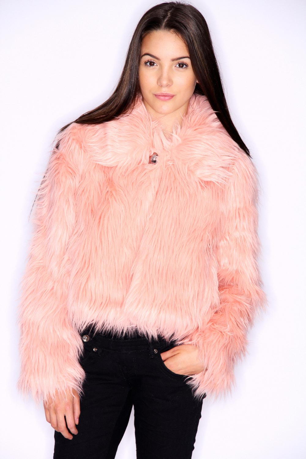 Boohoo teens gilly bright faux fur jacket in pink bnwt ebay - Traumzimmer fur teenager ...
