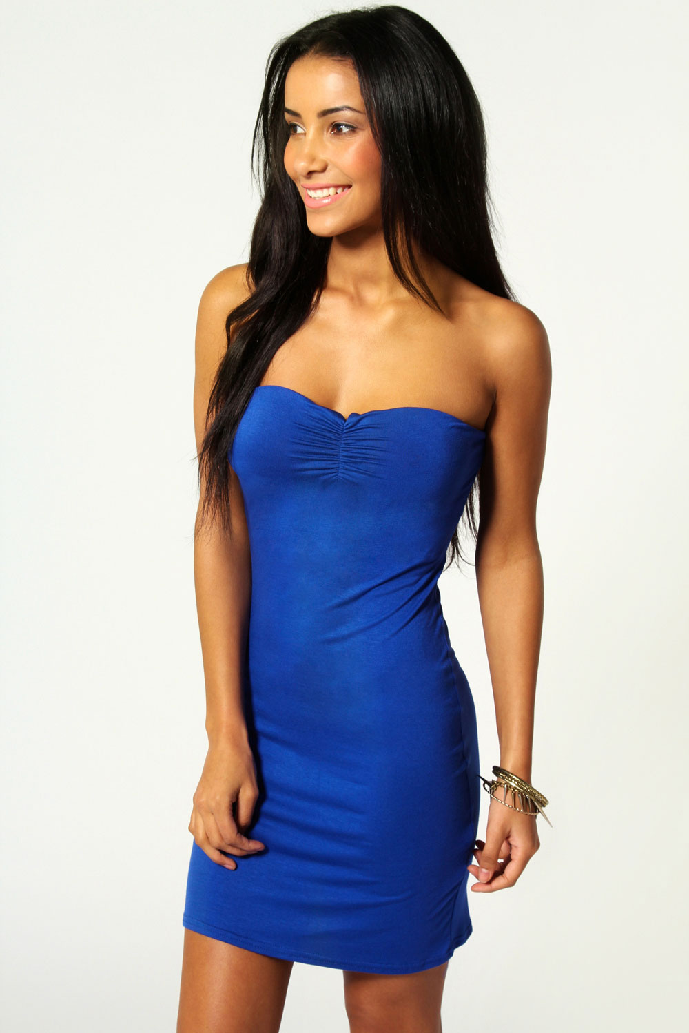 Boohoo-Mel-Bandeau-Bodycon-Hip-Length-Dress