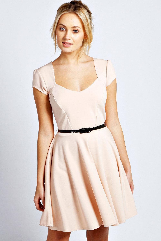 7d362291129d Boohoo-Womens-Ladies-Lara-Sweetheart-Skater-Dress thumbnail 8