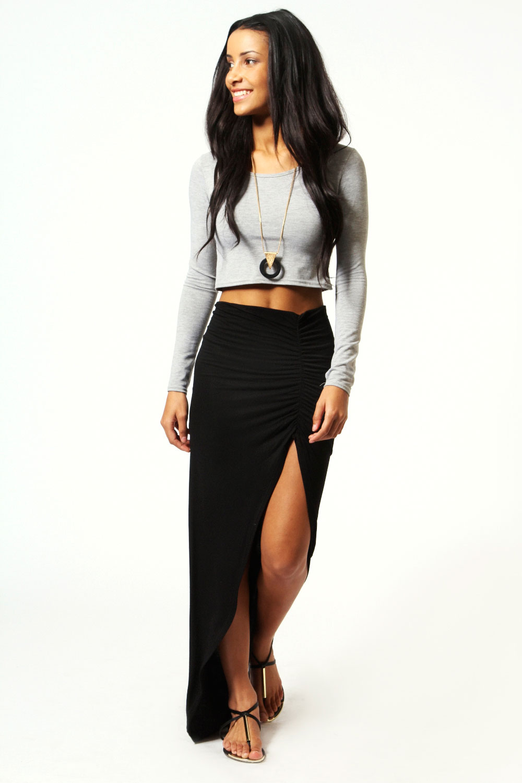 boohoo womens viscose maxi skirt ebay