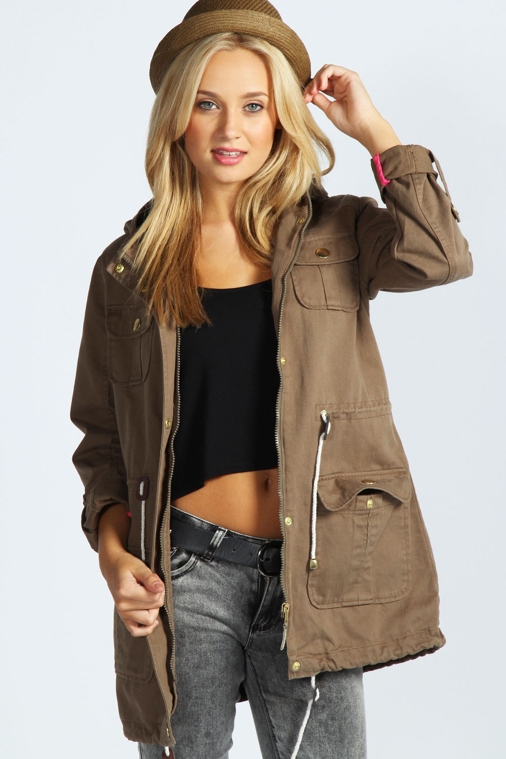 Brown Parka Jacket Womens - JacketIn