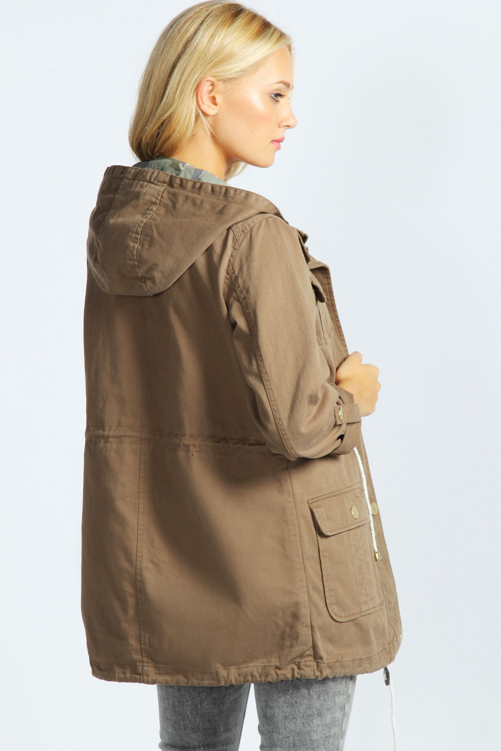 Brown Parka Coat Ladies