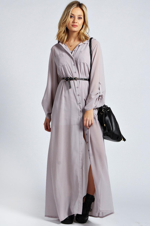 Perfect  About Boohoo Womens Corin Bandeau Embellished Waist Chiffon Maxi Dress