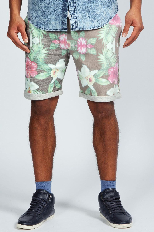 Boohoo Mens Floral Print Jog Shorts | eBay