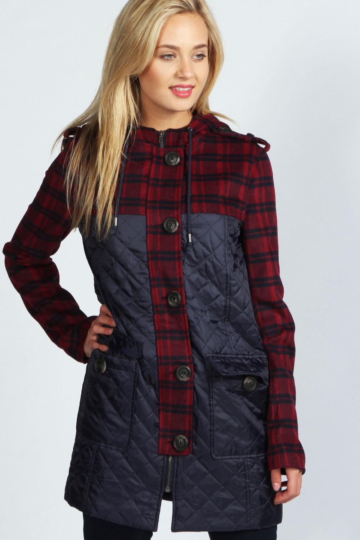 Womens duffle coat with hood