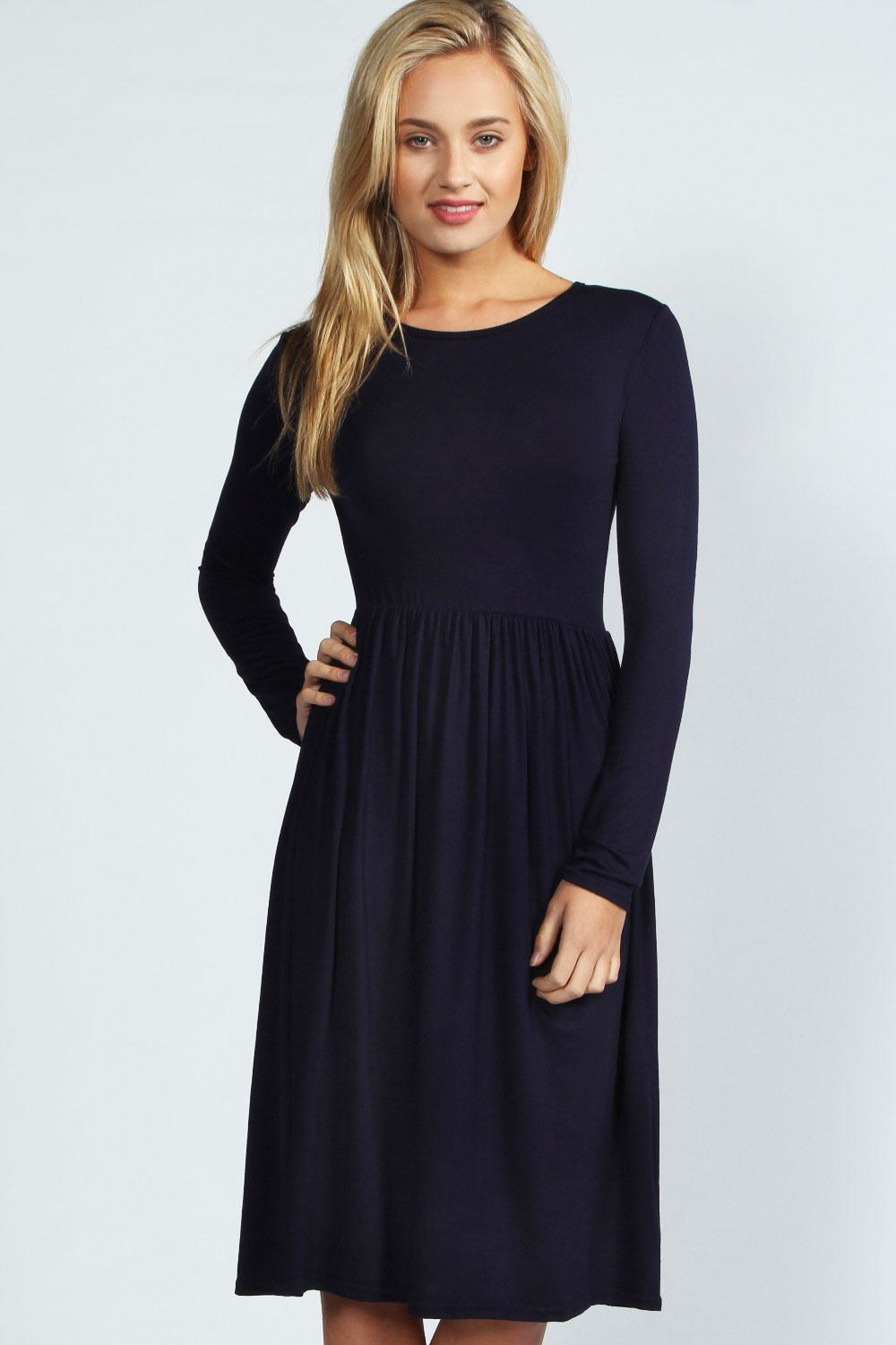 Shop Dillard's selection of women's long-sleeve cocktail dresses for your next special occasion.