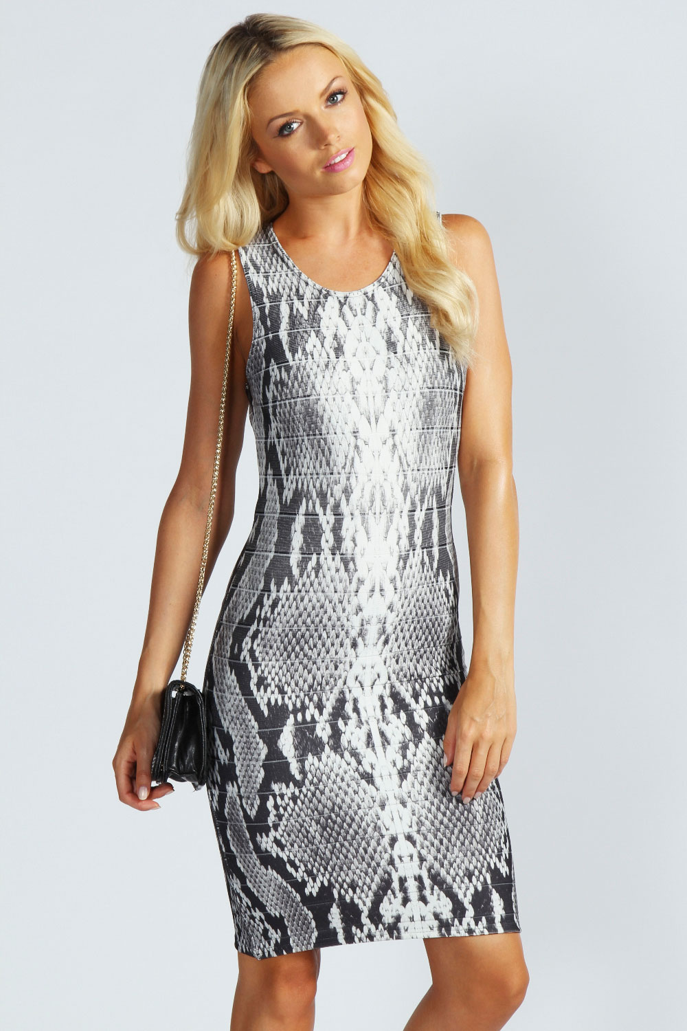 Boohoo-Abigail-Snake-Print-Bandage-Bodycon-Dress-In-Multi