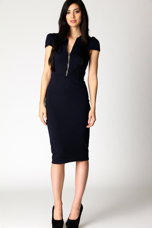 Boohoo-Gemma-Ponte-Roma-Midi-Capsleeved-Bodycon-Dress