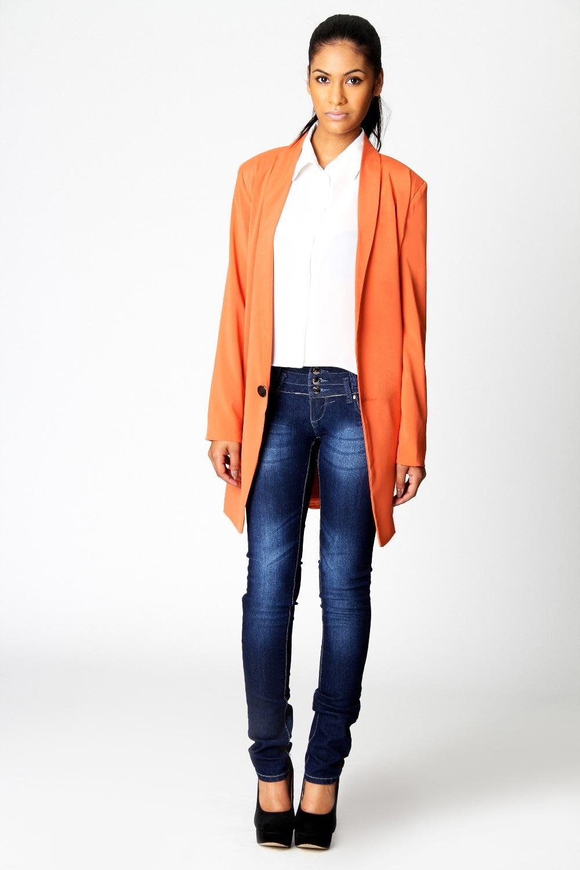 Boohoo-Danika-Oversized-Slouch-Longline-Blazer-In-Orange