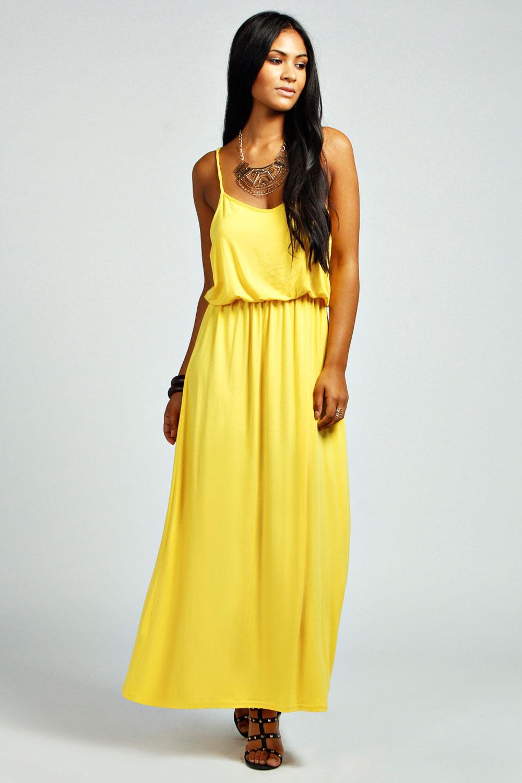 maxi dress geel