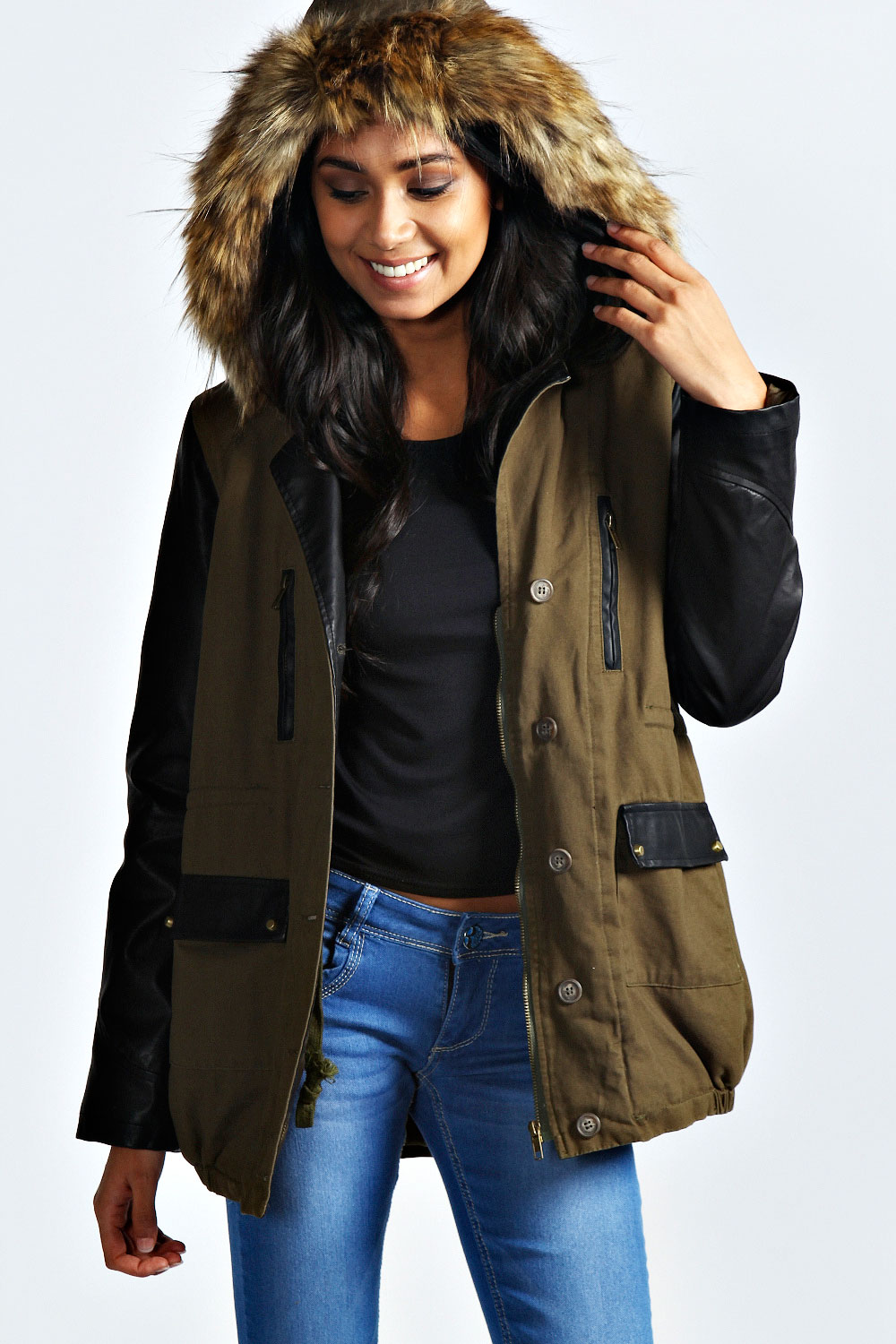 Womens Fur Parka Jacket | Fit Jacket