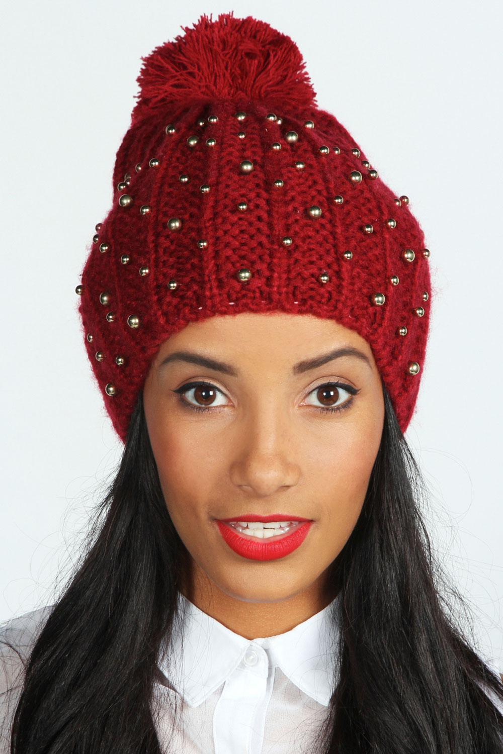 Boohoo-Lauren-All-Over-Studded-Bobble-Beanie-One-Size