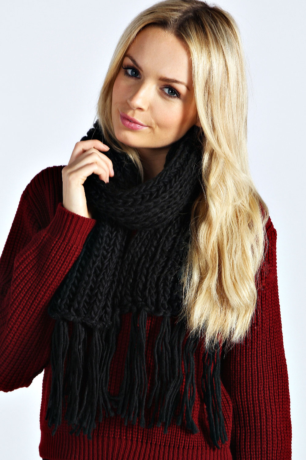 Boohoo-Jenna-Ribbed-Knitted-Scarf-One-Size