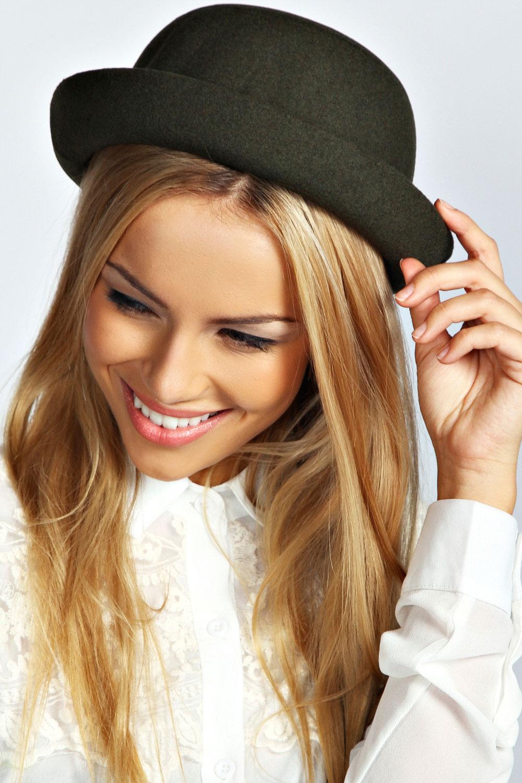 Boohoo-Womens-Ladies-Sophie-Bowler-Hat-One-Size
