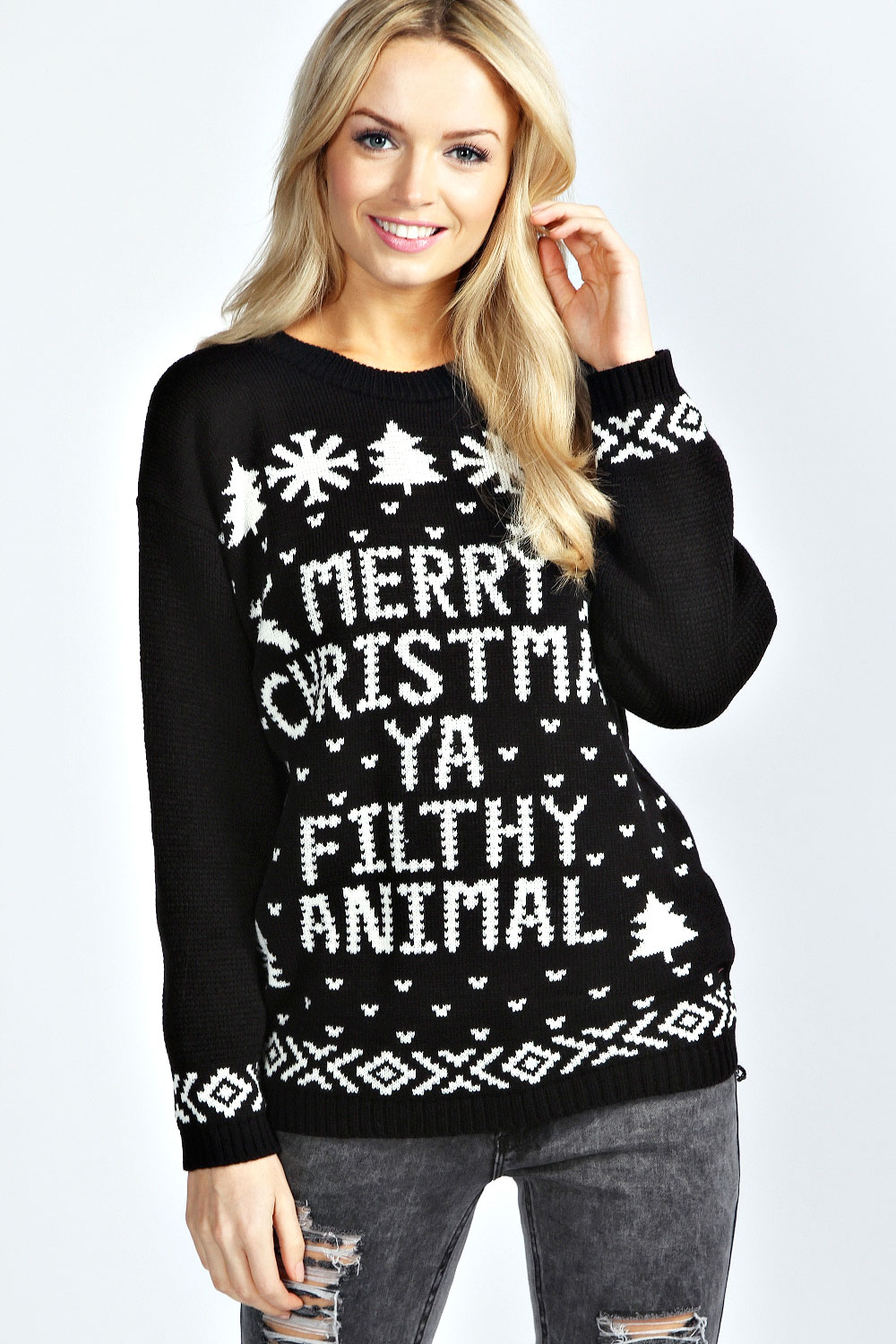 Merry christmas you filthy animals sweater