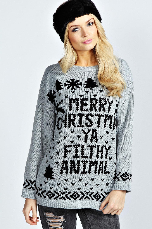 Hiba Merry Christmas Ya Filthy Animal