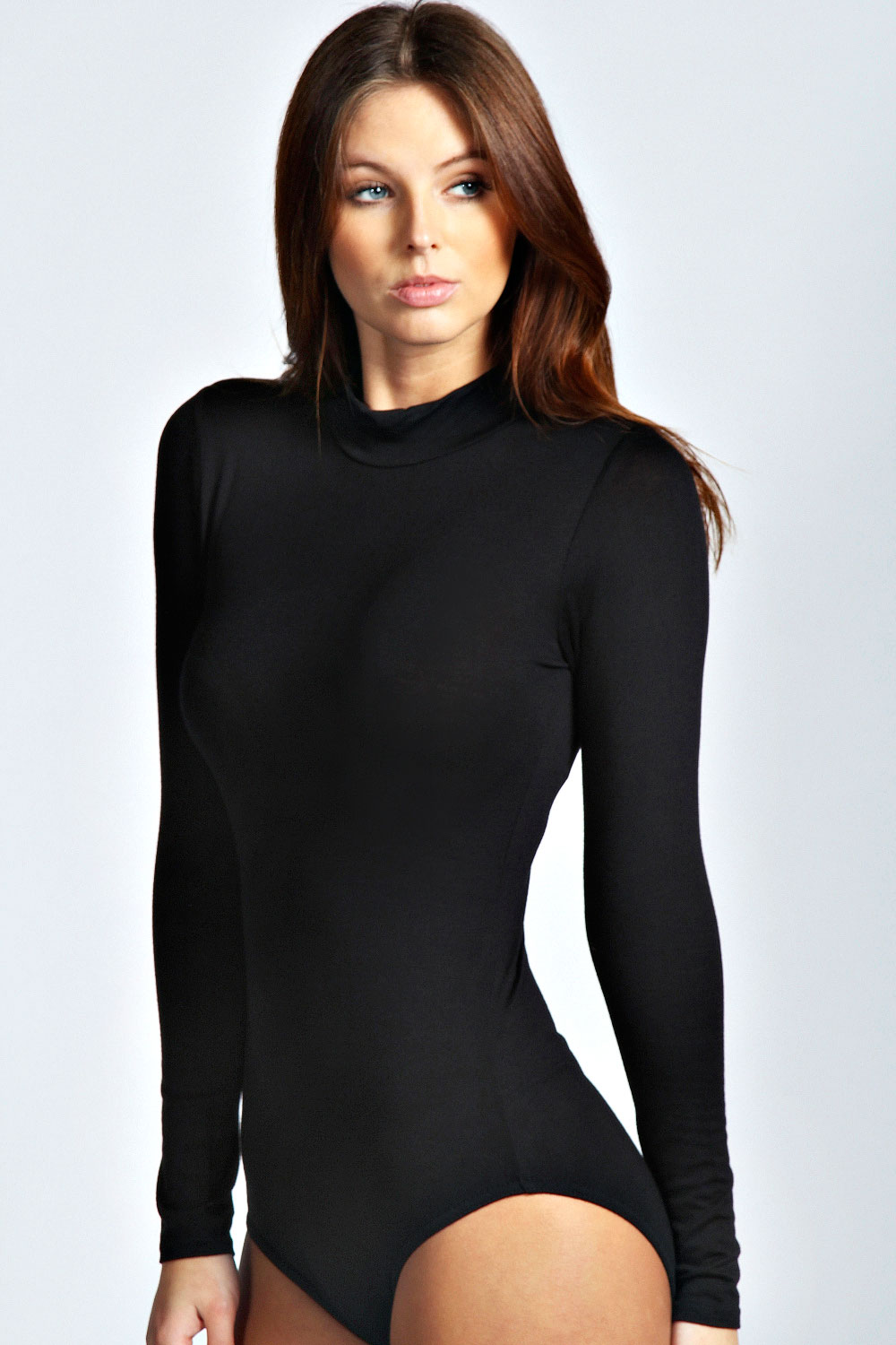 Boohoo Womens Ladies Eva High Neck Long Sleeve Bodysuit