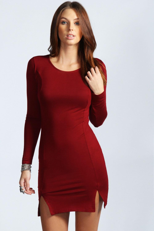 Long sleeve casual maxi dress
