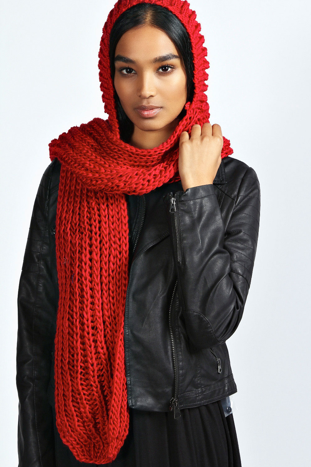 Boohoo-Louise-Hooded-Knitted-Scarf-One-Size
