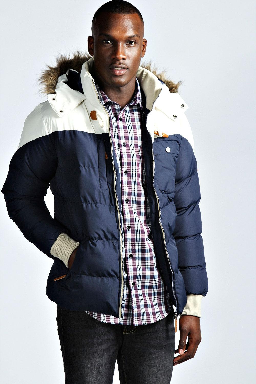 Boohoo-Mens-Panelled-Padded-Parka-Style-Coat