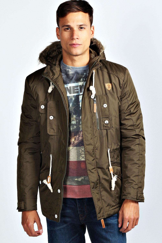 Boohoo-Mens-Hooded-Multi-Pocket-Parka-Jacket