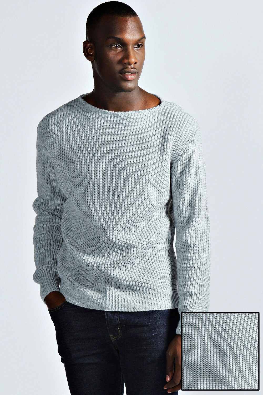 Boohoo-Mens-Oversized-Raw-Neck-Fisherman-Jumper