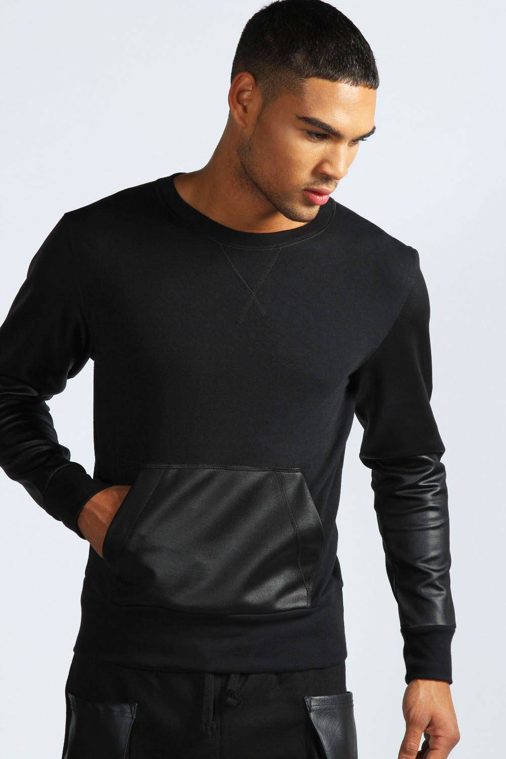 Find leather sleeve sweater at ShopStyle. Shop the latest collection of leather sleeve sweater from the most popular stores - all in one place.