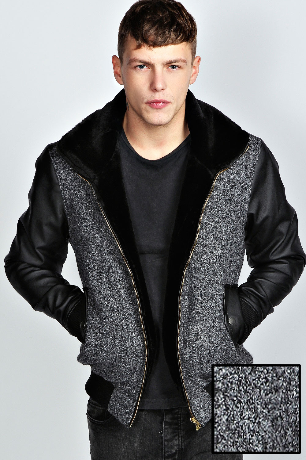 Shop for S13 Men's Black Quilted Nylon Hooded With Faux Fur Trim Collar Jacket. Get free delivery at getessay2016.tk - Your Online Men's Clothing Shop! Get 5% in rewards with Club O! -