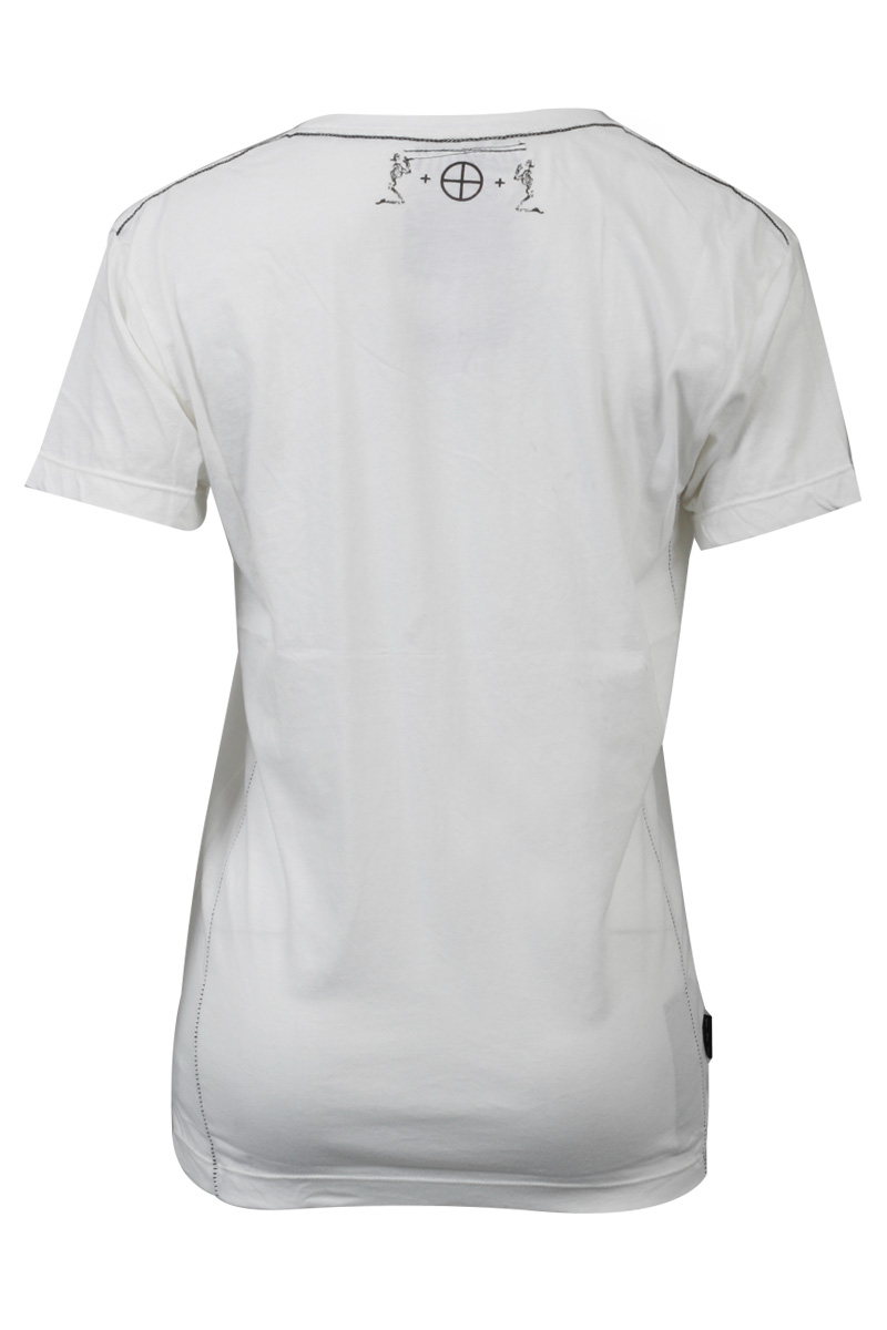 RELIGION-CLOTHING-MENS-WHITE-CREAM-PRINTED-HOLIDAY-CLUBBING-TSHIRT-SIZE-XS-XXL