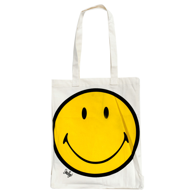 HANDBAG WOMENS WINTER WHITE ACID SMILEY FACE LADIES CANVAS BAGWinter Smiley Face