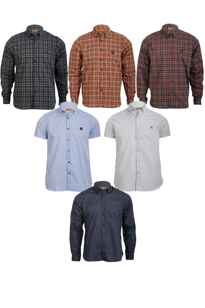 NEW-MENS-GABICCI-VINTAGE-COLLECTION-CHECKED-FLORAL-MOD-SHIRTS-SIZES-XS-5XL-UK