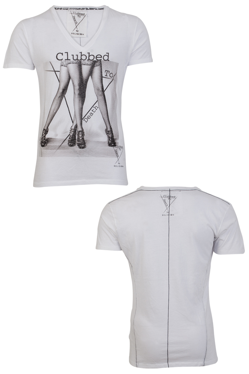 RELIGION CLOTHING CLUBBED TO DEATH MENS WHITE CLUBBING ...