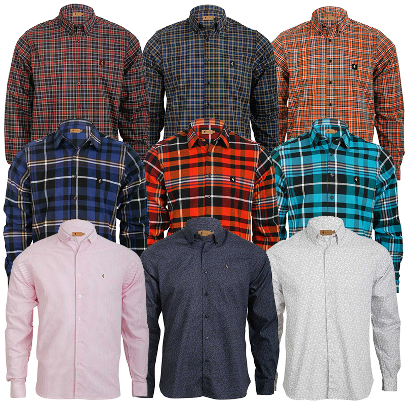 NEW-MENS-GABICCI-VINTAGE-COLLECTION-LONG-SLEEVE-RETRO-MOD-SHIRT-SIZE-XS-5XL-UK