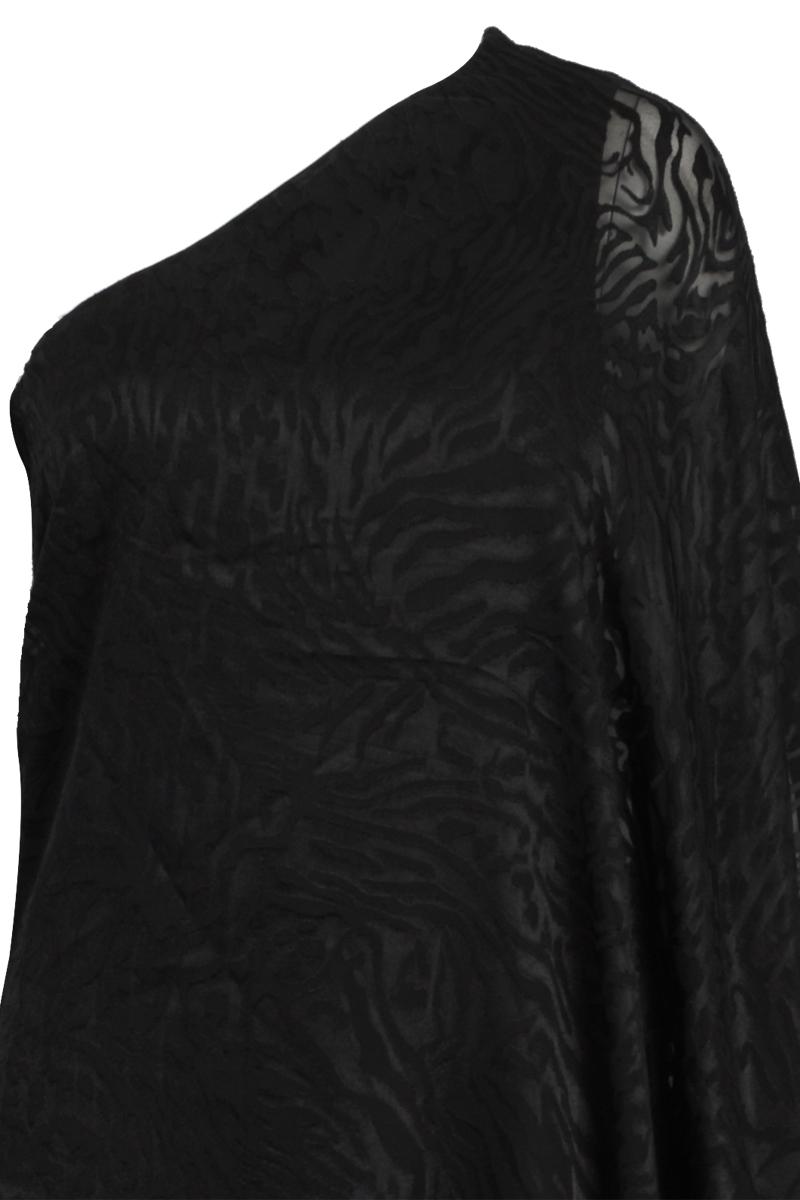 RELIGION-CLOTHING-WOMENS-JET-BLACK-LEOPARD-LADIES-ASYMMETRIC-DRESS-SIZE-6-14-DD