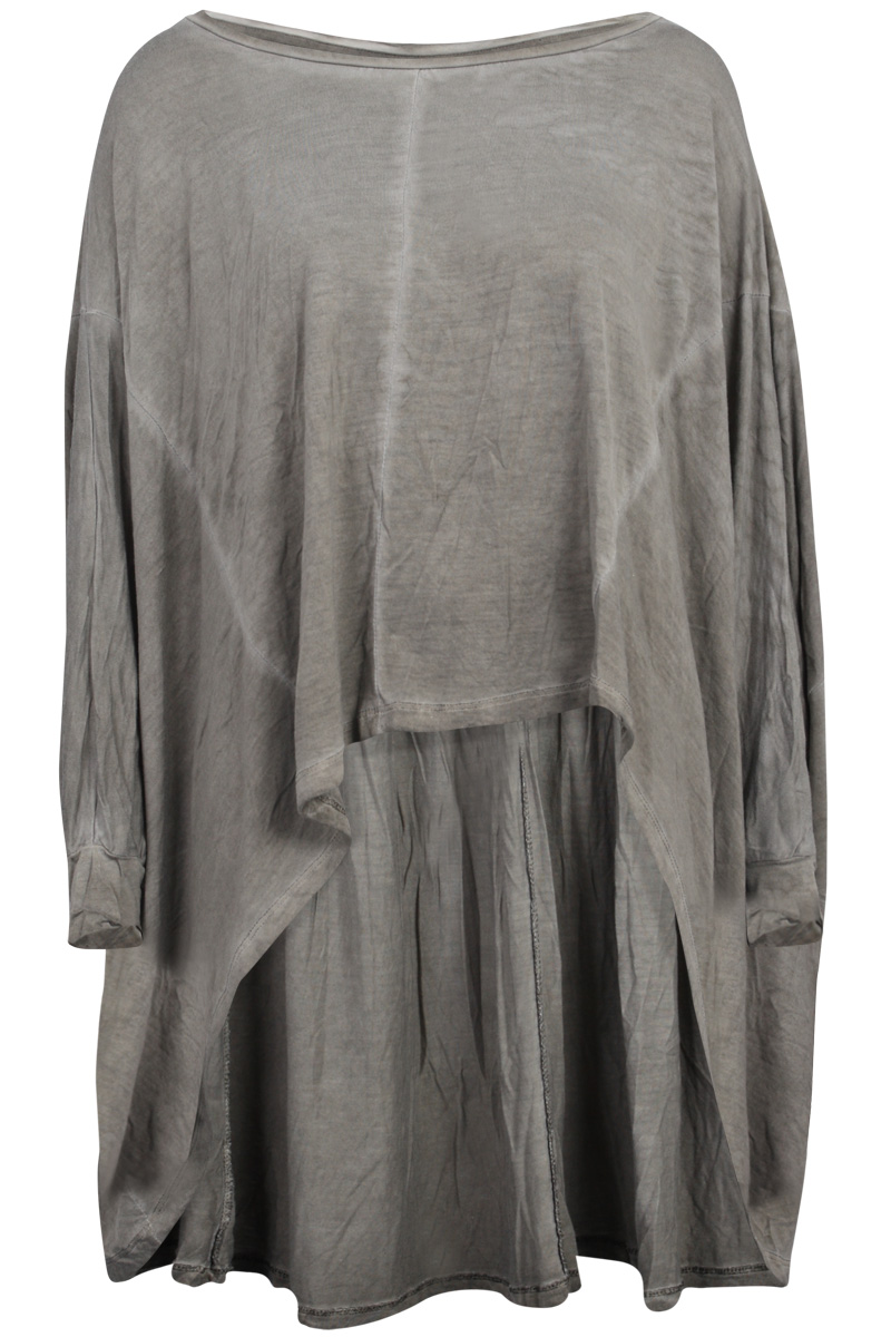 RELIGION-CLOTHING-WOMENS-TAUPE-CASUAL-ROBERTO-WASH-LONG-SLEEVE-KAFTAN-SIZE-6-16
