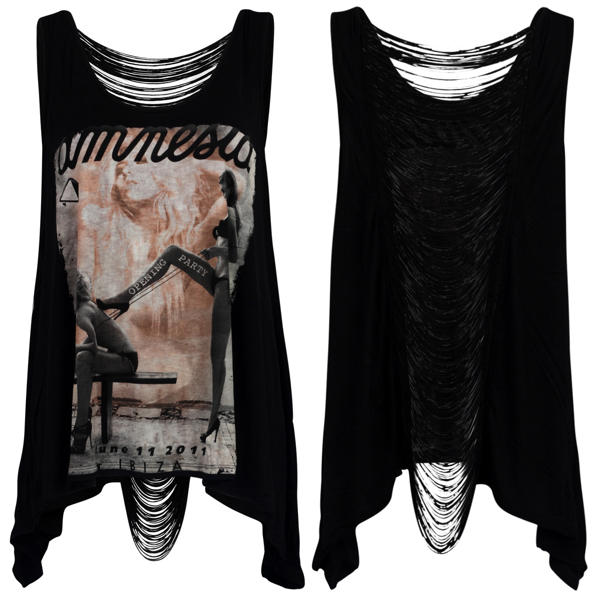 RELIGION-CLOTHING-WOMENS-BLACK-AMNESIA-PRINTED-LADIES-TASSEL-BACK-TOP-SIZE-XS-L