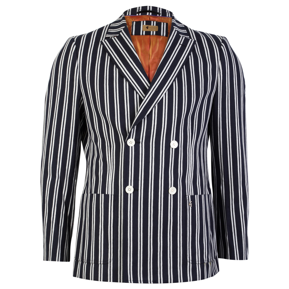 NEW GABICCI VINTAGE MENS NAVY BLUE STRIPED FORMAL SMART ...