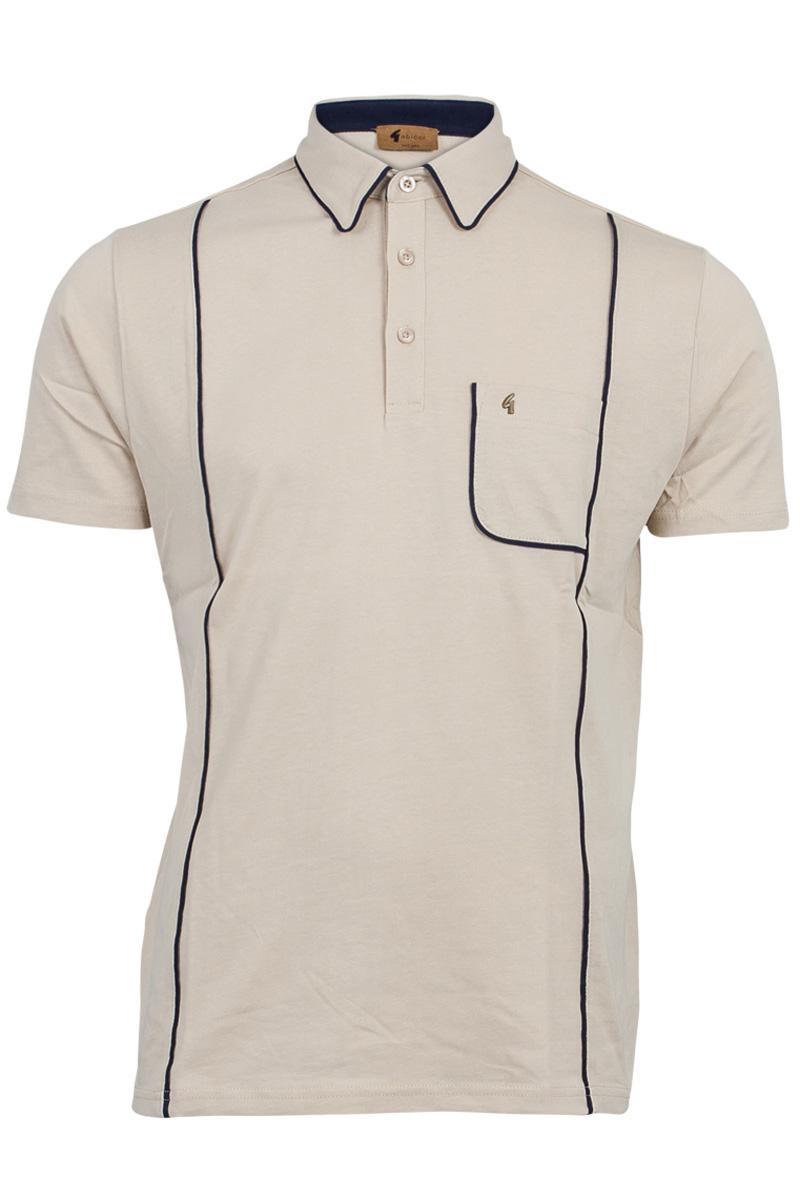 Mens Gabicci Vintage Designer Short Sleeved Polo Shirt