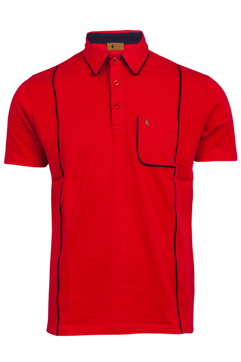 Mens gabicci vintage designer short sleeved polo shirt for Mens xs golf shirts