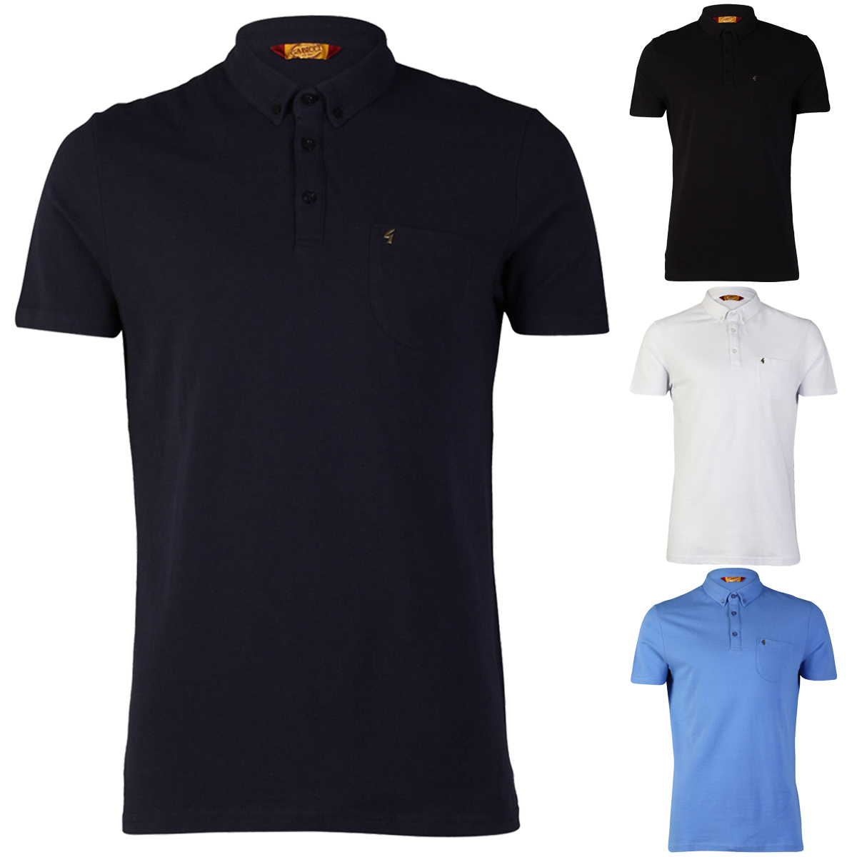 NEW-GABICCI-VINTAGE-MENS-CASUAL-COLLARED-BUTTON-UP-POLO-T-SHIRT-TOP-SIZE-S-XXL