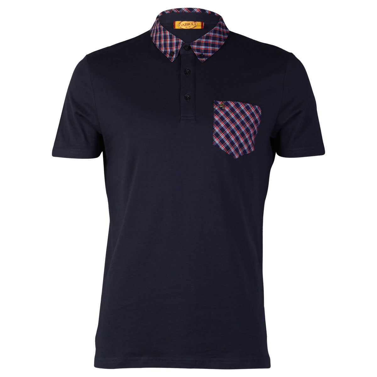 NEW-GABICCI-VINATGE-MENS-CHECKED-COLLARED-PRINTED-POLO-T-SHIRT-TOP-SIZE-S-XXL