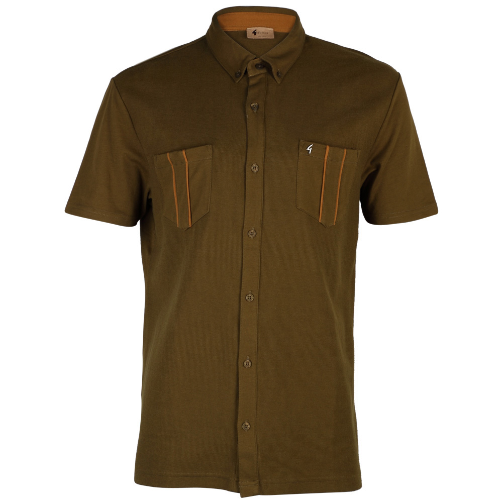 new gabicci vintage mens short sleeved button up collar t