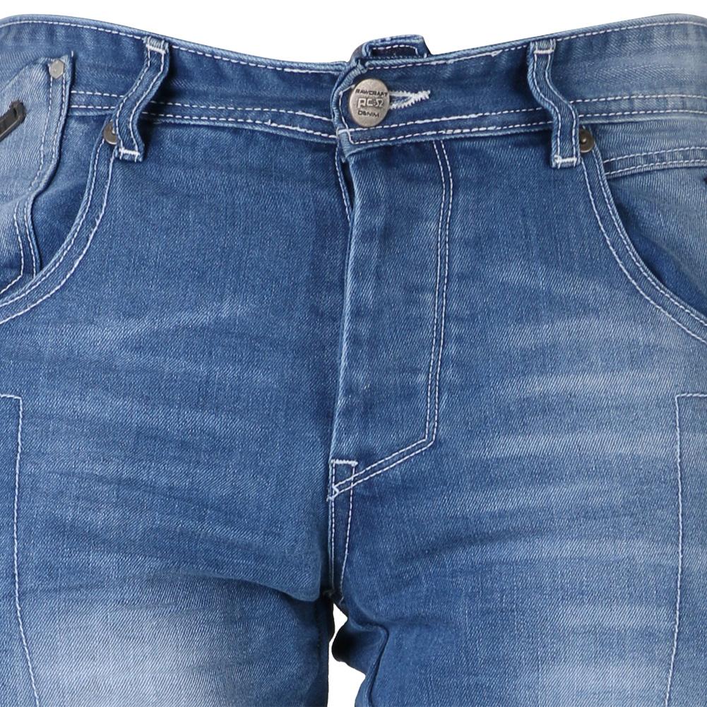 Mens Cargo Faded Light Wash Straight Leg Jeans Button Fly Denim Rawcraft 30u201d-40u201d | eBay