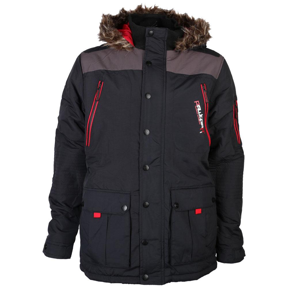 New Mens Rawcraft Zip Up Long Sleeve Hooded Coat Winter ...
