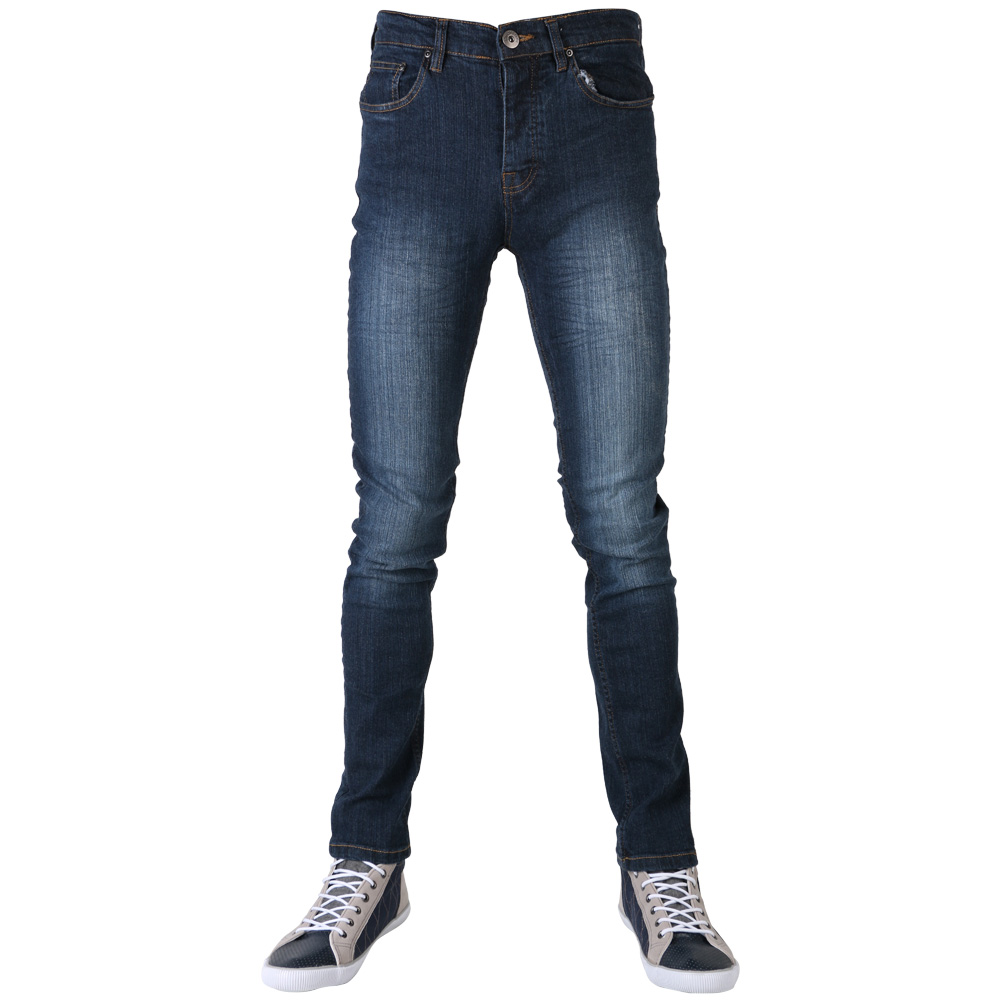 mens loyalty faith plain skinny stretch button fly denim jeans size 30 40 ebay. Black Bedroom Furniture Sets. Home Design Ideas