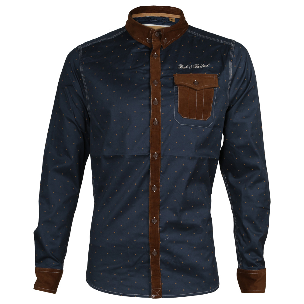 Mens rock revival button up lomond wardie collared for Mens casual collared shirts